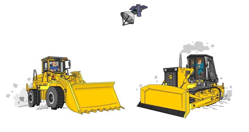 Rastreo satelital de maquinaria amarilla
